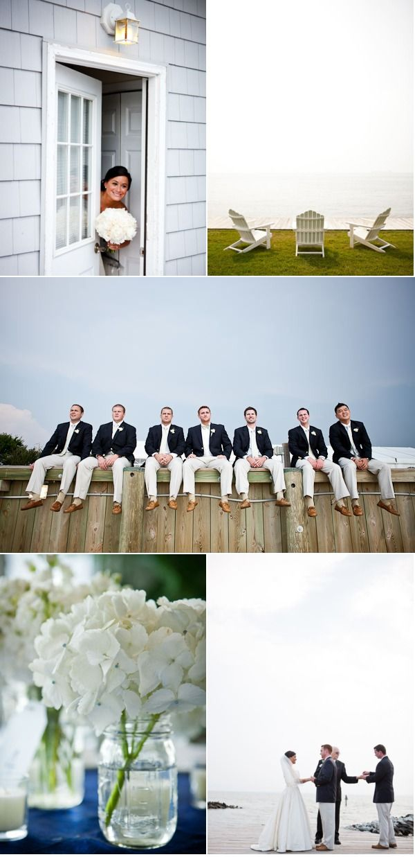 there's something about a preppy Northeast wedding that I love...particularly, khaki and navy blazers on the groom and groomsmen.