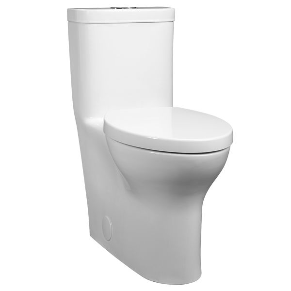 The Lyndon One Piece Elongated Dual Flush Toilet from DXV is a luxurious addition to the contemporary bathroom. Part of the Lyndon Collection, its inspired by contemporary furniture design with simple elegance and restrained style.