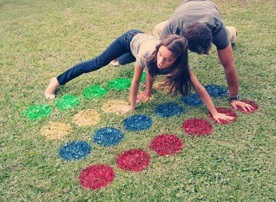 From Elmer's Craft FB page A grassy space, a little paint, and a summer day are all you need for a fun game of outdoor Twister!