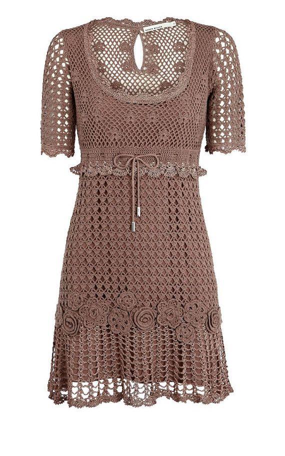 CROCHET moda exclusiva crochet vestido por por LecrochetArt