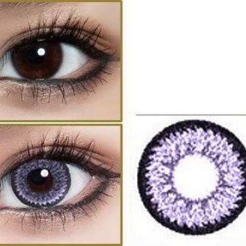 365 days Color Contact Lenses Lentilles de Couleur Purple color