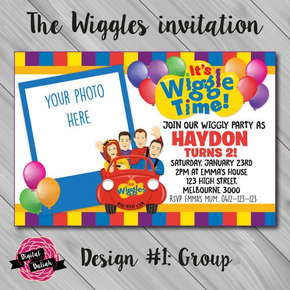 The Wiggles Invitation with Photo Insert. Choose by DigitalDaliah
