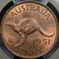 PCGS MS64RB 1951PL Penny AUD$75