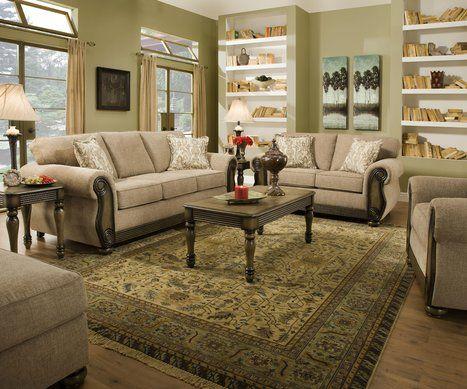 Ornate Traditional Living Room Design