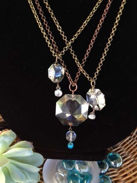 105 best jewelry making chandelier crystals images on pinterest chandelier crystal necklaces aloadofball Choice Image