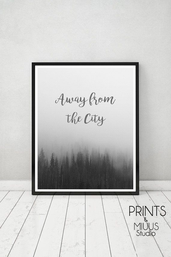 Photography Forest Art Print Modern Minimal by PrintsMiuusStudio
