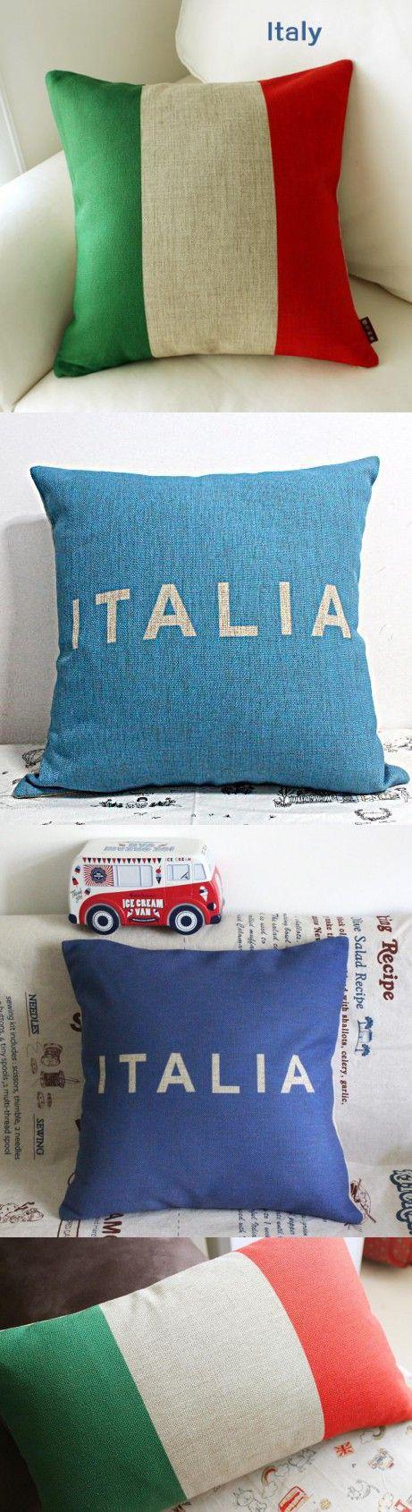 Italian Flag pillow case, Italy pillowcase, simple logo Flag of Italy throw pillow case pillow cover no core $11.14