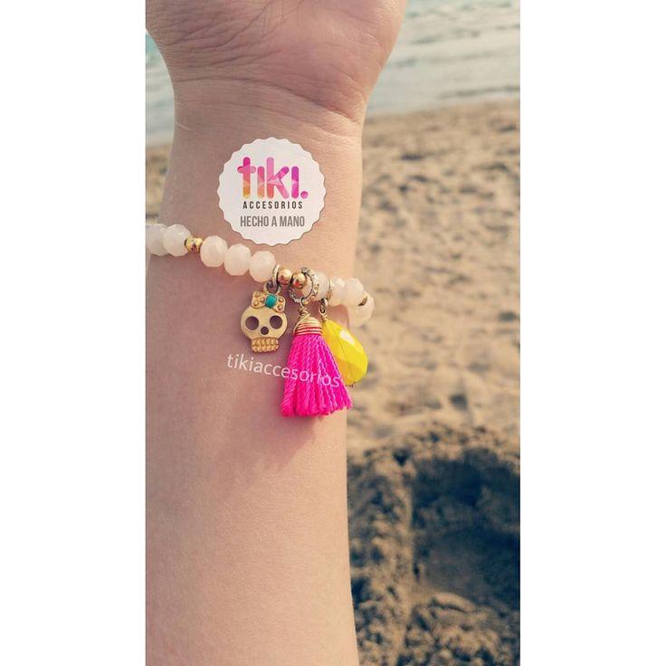 """❤❤ #skull #handmade #bracelet #handmadejewelry #hechoenmexico  #hechopormexicanos #"
