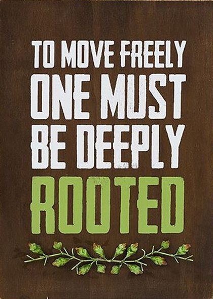 In 2015 I want to:  Grow deep roots (Make traditions, start new ways of doing things)