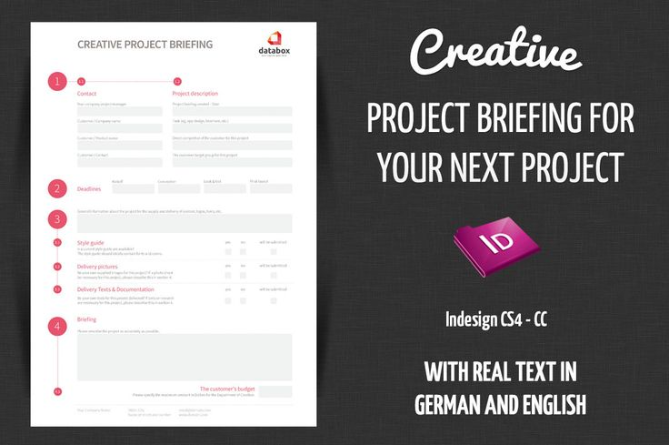 Creative Project Briefing ~ Stationery Templates on Creative - project brief template
