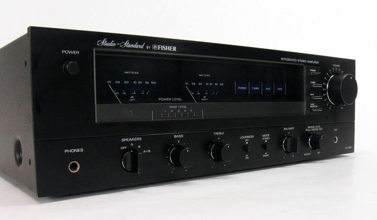 Fisher Studio Standard Ca 880 Stereo Amplifier Amp 100 Wpc