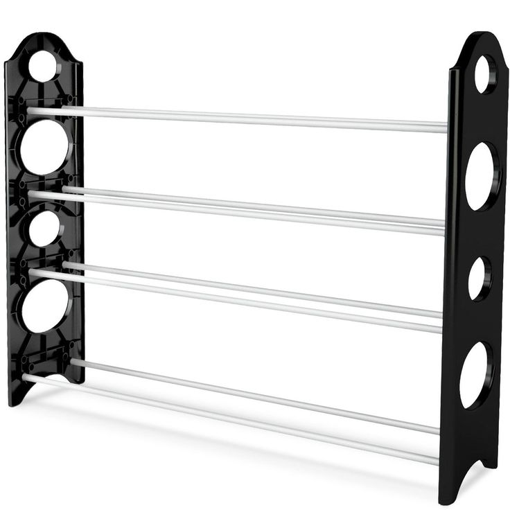 Home-Complete Shoe Rack Store Upto 20 Pairs Black 1