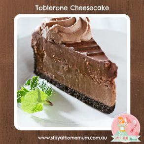 Toblerone Cheesecake         Cheesecake Base:  1.5 cups plain chocolate biscuit crumbs 120 grams melted butter Cheesecake Filling:  2 x 250 ...
