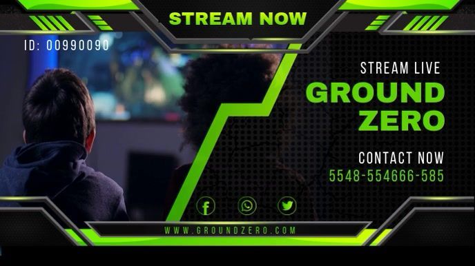 Green Game Streaming Twitch Banner In 2020 Gaming Posters Poster Template Gaming Banner