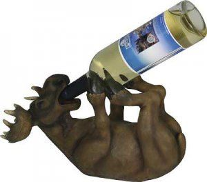 Woodland Moose Decorative Wine Bottle Holder( instead of wine put a carrot or baby bottle or something good and healthy)