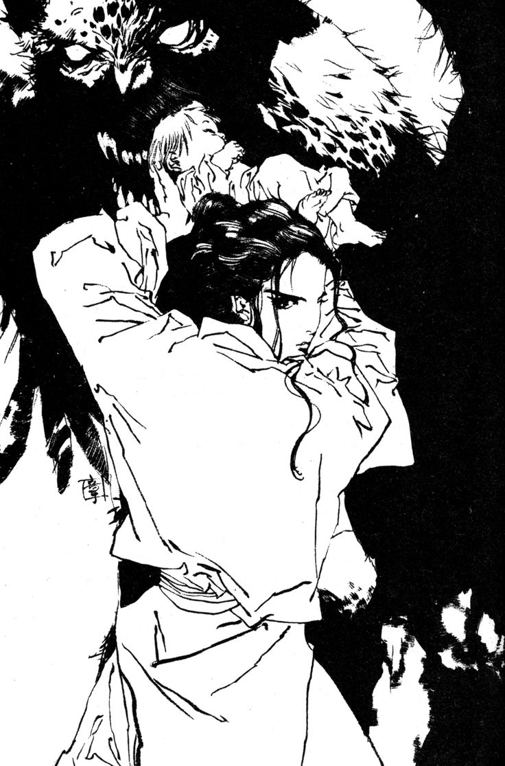 更夜 Kouya :『東の海神 西の滄海』十二国記 Juuni Kokki / Twelve Kingdoms - art by Yamada Akihiro 山田章博