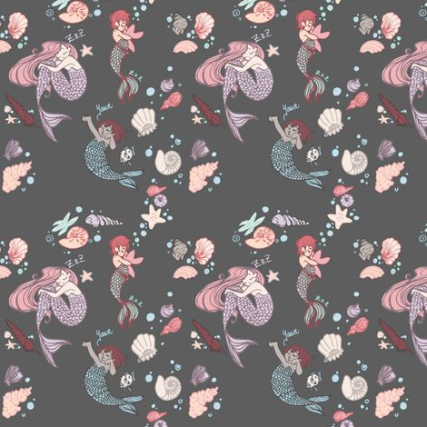 Mermaid Naps fabric by samantha_maclean on Spoonflower - custom fabric