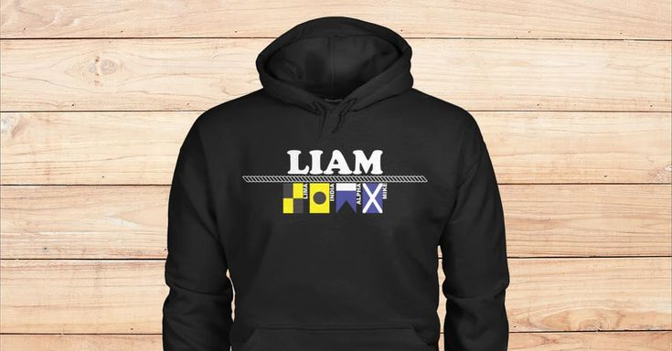 SPECIAL BLACK HOODIES FOR LIAM. Please checkout on Viralstyle!#names #alphabet #flags #alphabetflags #liam #namesliam