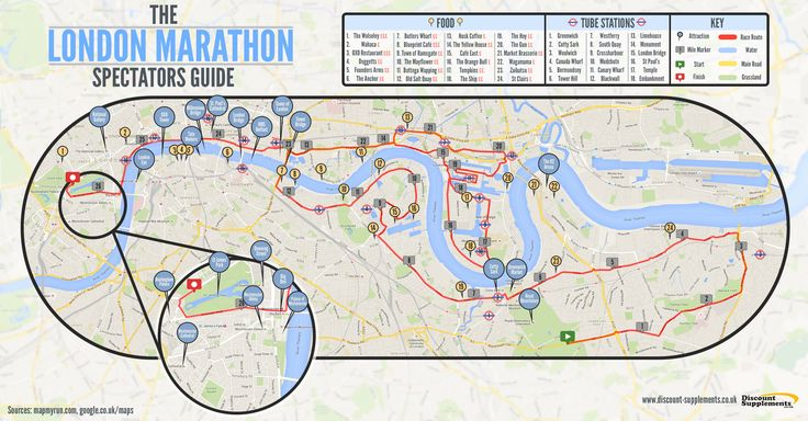 Visiting the 2016 London Marathon this Sunday? Here's our map for spectators. #LondonMarathon