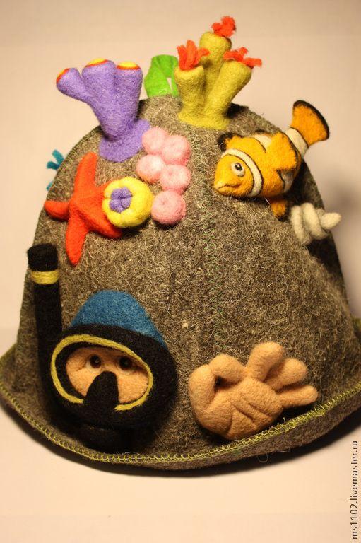 Felted sauna hat