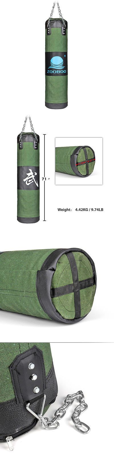 Punching Bags 30101: 71 Heavy Punching Bag Mma Boxing Workout Training Gear With Chain (Empty) BUY IT NOW ONLY: $46.63
