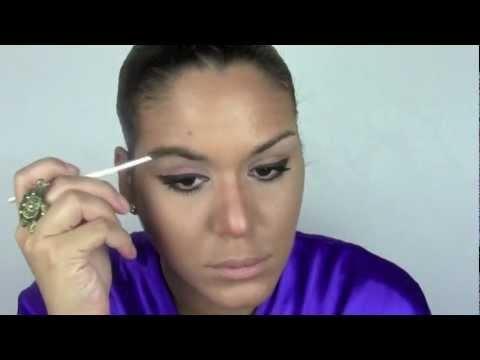 Ojos Delineados Negro y Marron / Black and Brown eyeliner