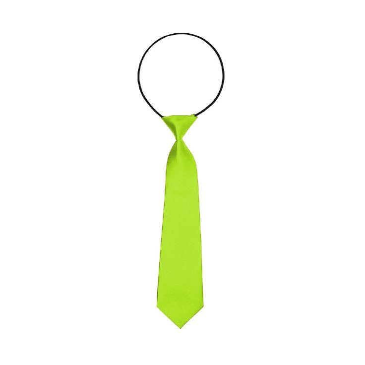 Kinder Krawatte Schlips gebunden dehnbar - neongrün in Bekleidung Accessoire  • Krawatten • Kinder