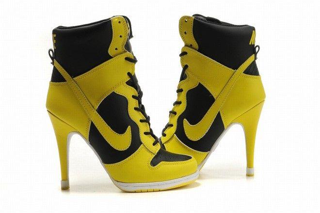 Get Goedkope New Series Zeeland Nike Dunk Sb Hoge-Top Zwart Geel Hakken Voor Dames Echte Online