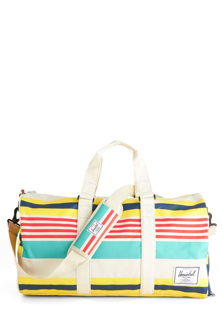 Tranquil Travels Weekend Bag. Youre sure to have stress-free packing when you organize into this striped weekend bag by Herschel Supply Co. #multi #modcloth