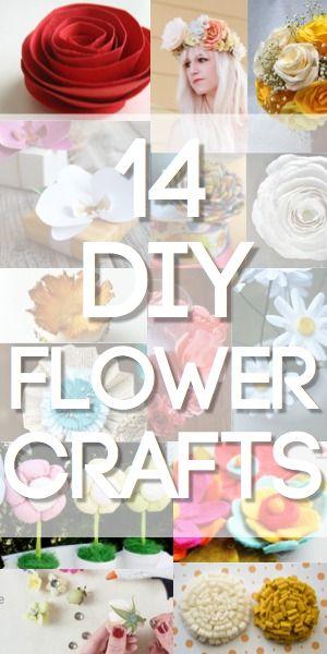 14 DIY Flower Crafts for Weddings or Spring