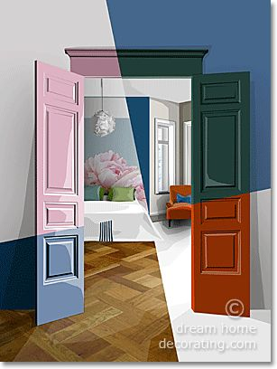 5 very different bedroom color schemes for a single room.