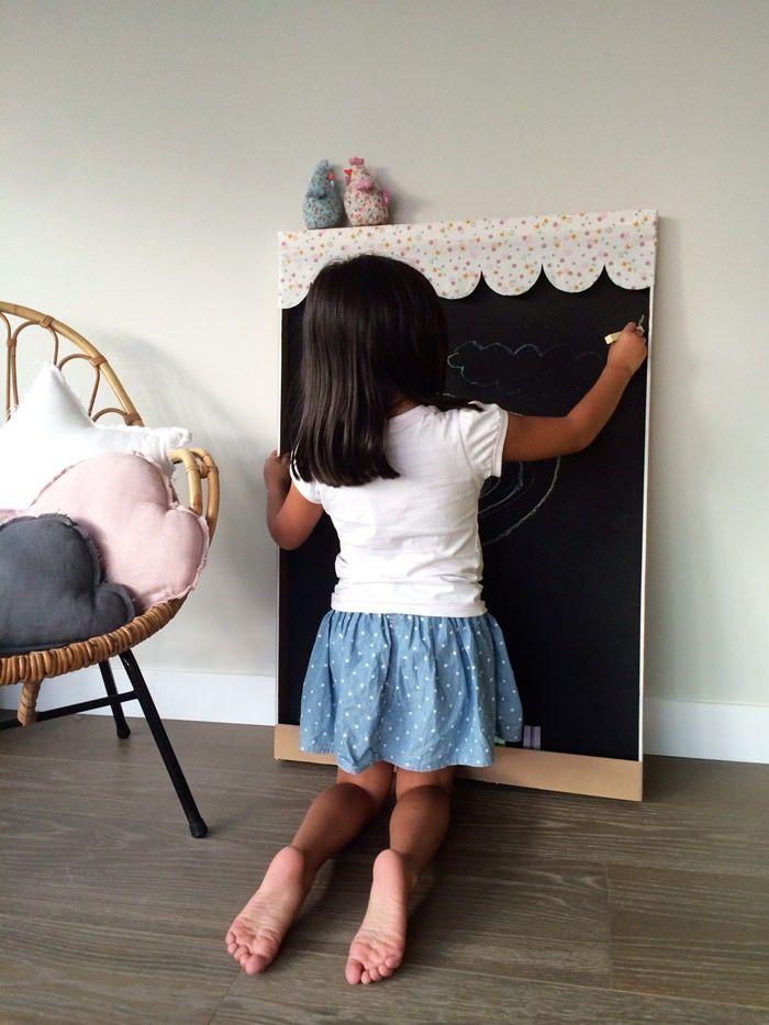 Como hacer una pizarra casera f cil y bonita crafts - Pizarra de pared ikea ...