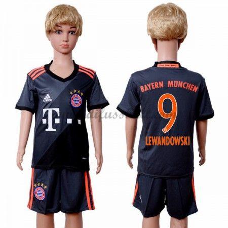 kindertrikot bayern munich 2016 17 lewandowski 9 kurzarm auswärts fußball trikotsatz kinder günst