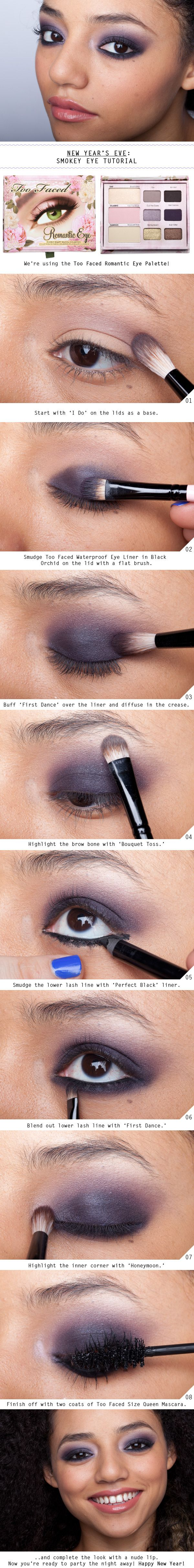 A purple Smokey Eye Tutorial perfect for green eyes
