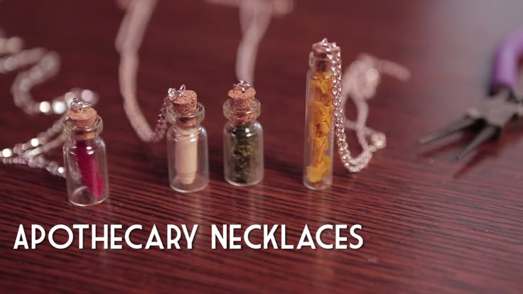 DIY Apothecary-Bottle Necklace