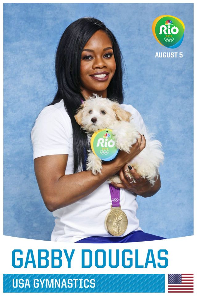 Gabby Douglas-Aww! How adorable. They both are                                                                                                                                                                                 More