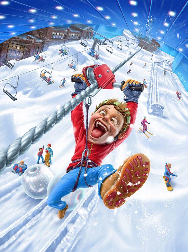 Ski Dubai by Oscar Ramos, via Behance // Inspirational Art Website www.astronautonacow.com