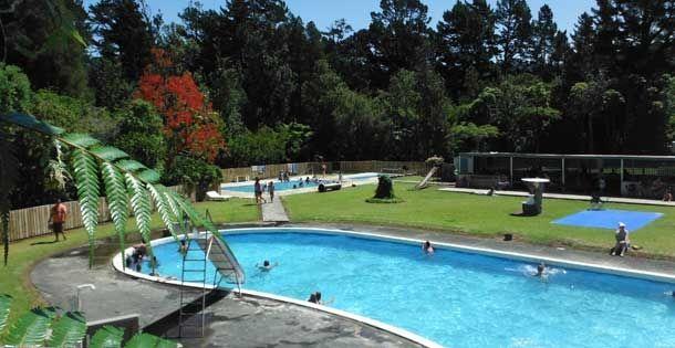 Katikati holiday park with natural hot thermal pools