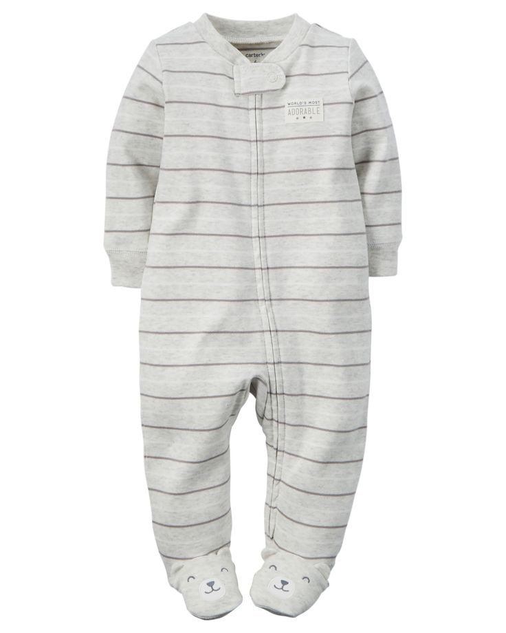Baby Boy Cotton Zip-Up Sleep & Play | Carters.com