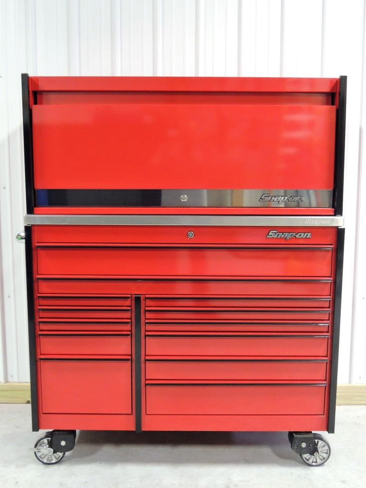 Snap On Candy Apple Red KRL1022 Tool Box, Stainless Steel Top & KRL7954 Hutch | eBay
