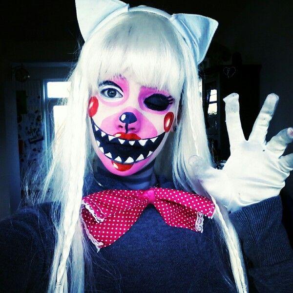 Mangle makeup from fnaf fivenightsatfreddys themangle fnaf cosplay