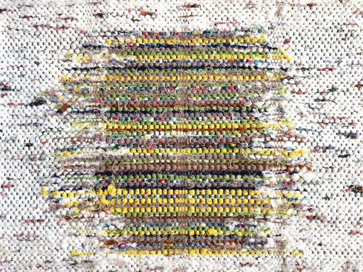 Plain Weave Mat/手織り/裂き織り/handwoven/マット/textile/テキスタイル/weaving/trasmattor