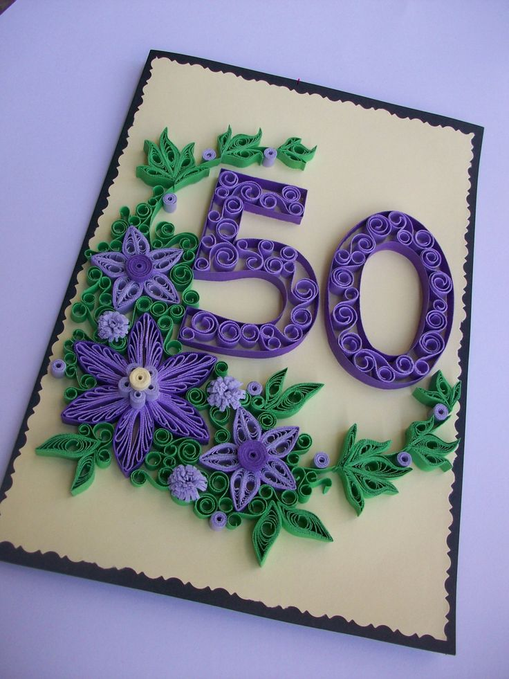 Birthday Anniversary Quilling card, Greeting card, Quilled Birthday card, Handmade Quilling Card de HandmadeTedy en Etsy