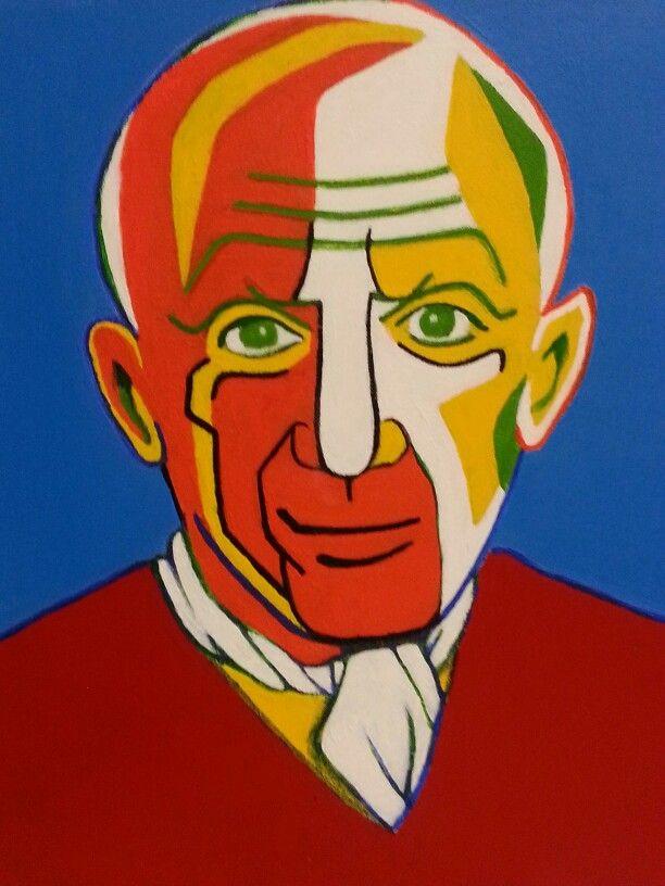 Like Piccaso #2. 2013. 45.5 x 53.0cm. Acryl on Canvas.