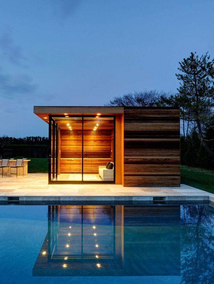 Pool House, Bridgehampton, New York, USA.