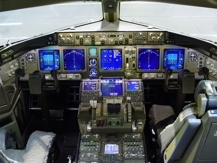 Not your grandfather's flight deck. Look at all that glass. Barely a dial in sight !!