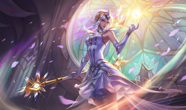 These artists deserve credit where credit is due. This 30 dollar skin is incredible, the splash art itself is a seller, then to see it in game is even more insane.  League of Legends - Elementalist Lux Splash Art