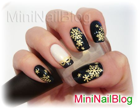snowflake winter christmas #nail #nails #nailart