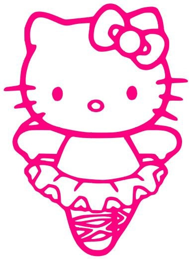 Ballerina dancer hello kitty by sanrio by itsastickysituation i 39 ve got girls - Ballerine hello kitty ...