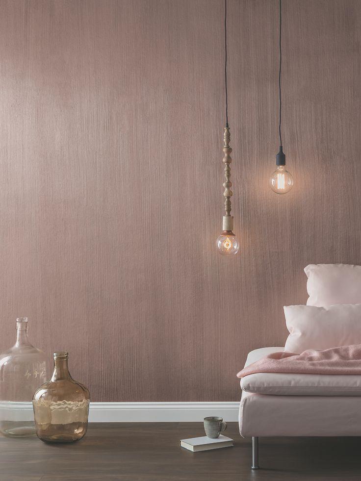 Trendige Wandgestatlung Metallic Rosegold Ein Extravagantes Wanddesign Metallic Wandfarbe Alpina Farbrezepte Wandfarbe
